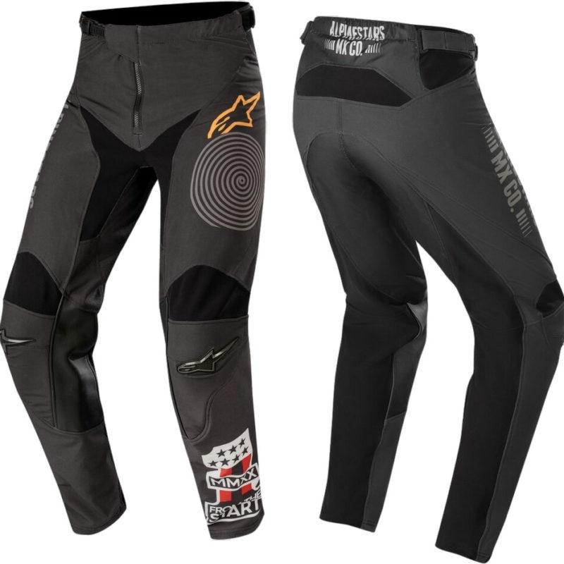 2020 Alpinestars Racer Tech Flagship Motocross Pants Black Dark Grey