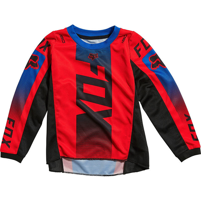 2021 Fox Kids 180 Oktiv Jersey Flo Red