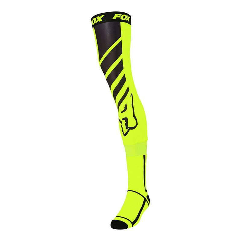 FOX Mach One Knee Brace Sock Flo Ylw