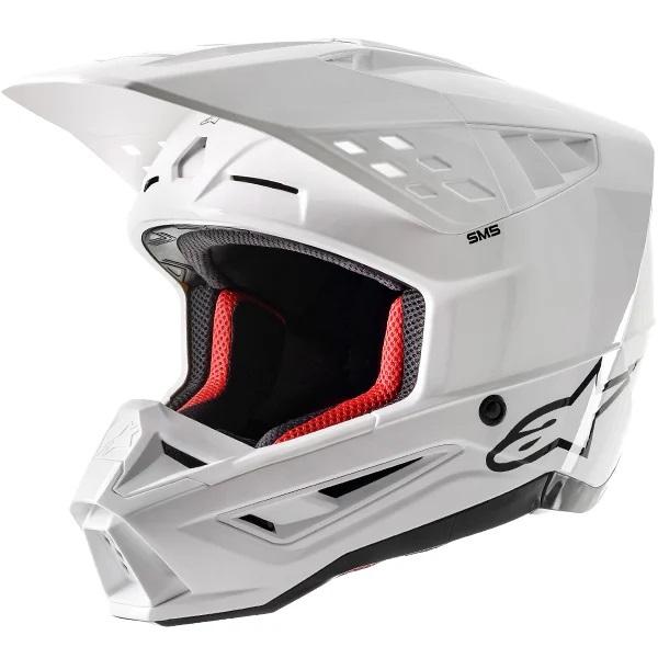 Alpinestars Supertech S-M5 Solid Gloss White Helmet