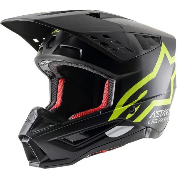 Alpinestars Supertech S-M5 Compass Matt Black Yellow Helmet