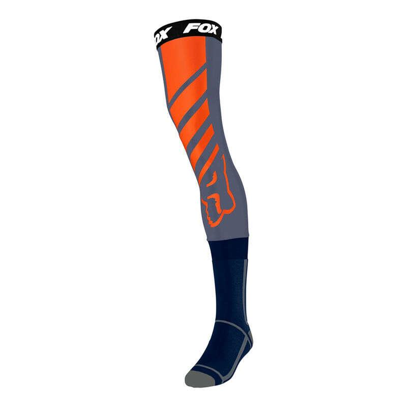 Fox Mach One Knee Brace Sock Blue Steel