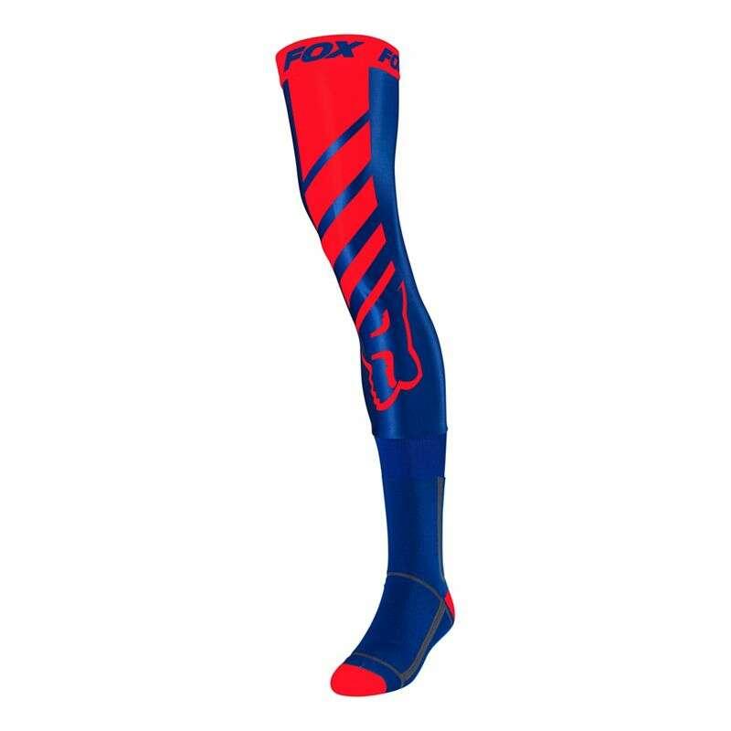 fox-mach-one-knee-brace-sock-blue/red