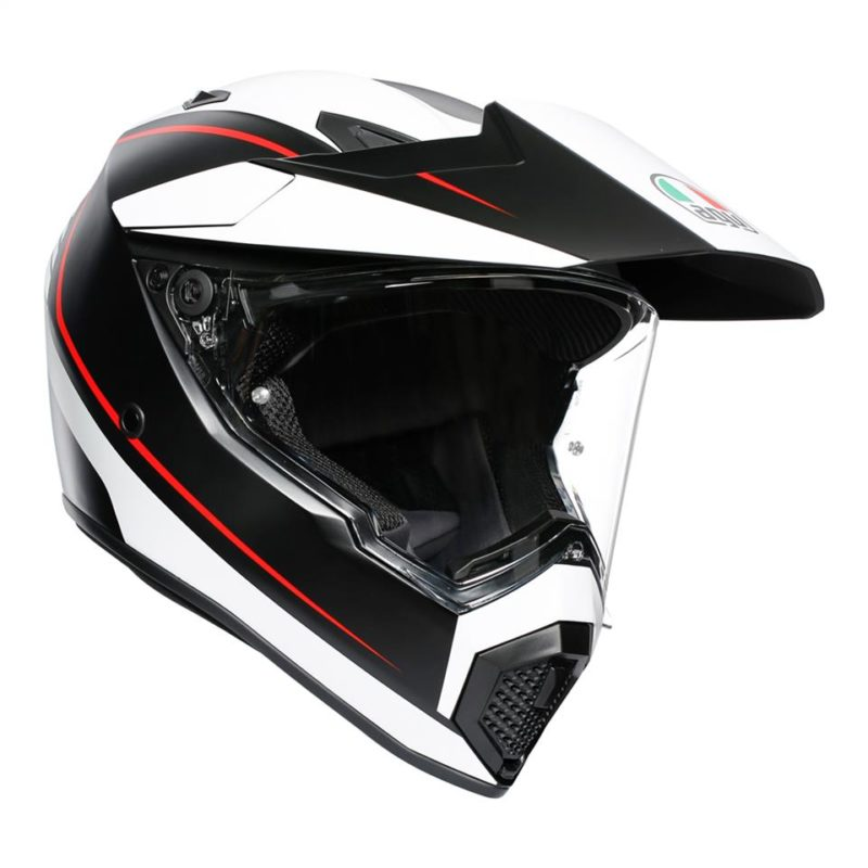 AGV AX9 PACIFIC ROAD Matt Black/White/Red