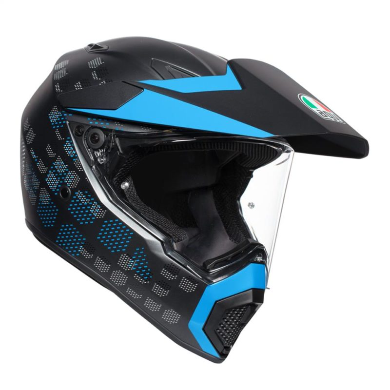 AGV AX9 ANTERTIC Matt Black / Cyan