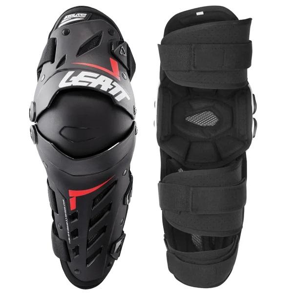 Leatt Dual Axis Knee Guards - Black Red