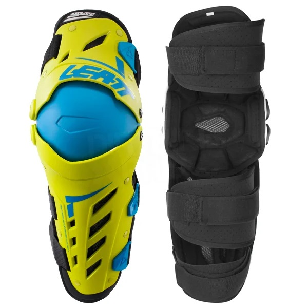 Leatt Dual Axis Knee Guards - Lime Blue