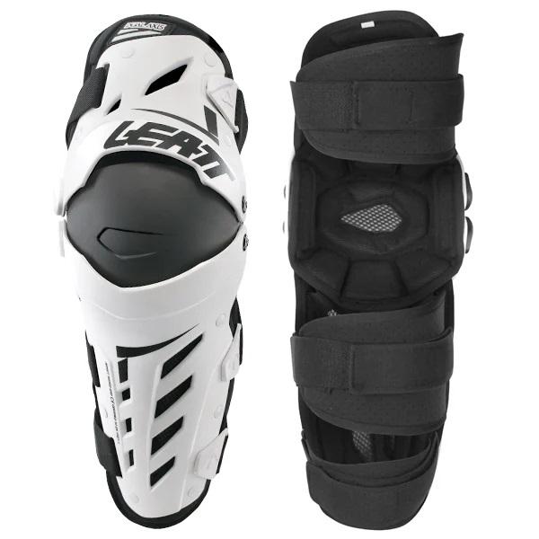 Leatt Dual Axis Knee Guards - White Black