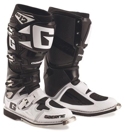 Gaerne SG12 White/Black Motocross Boots