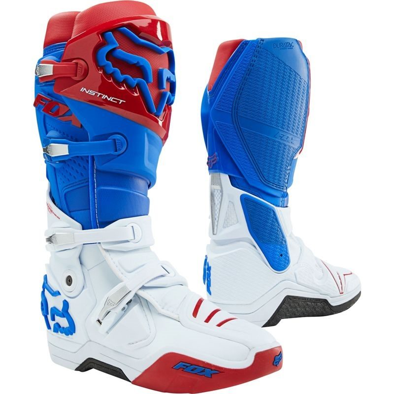 Red Blue Fox Racing Boots