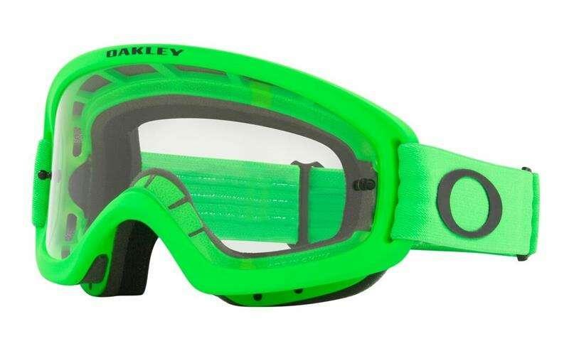 Oakley O Frame 2.0 Pro XS MX Goggle (Moto Green) Clear Lens
