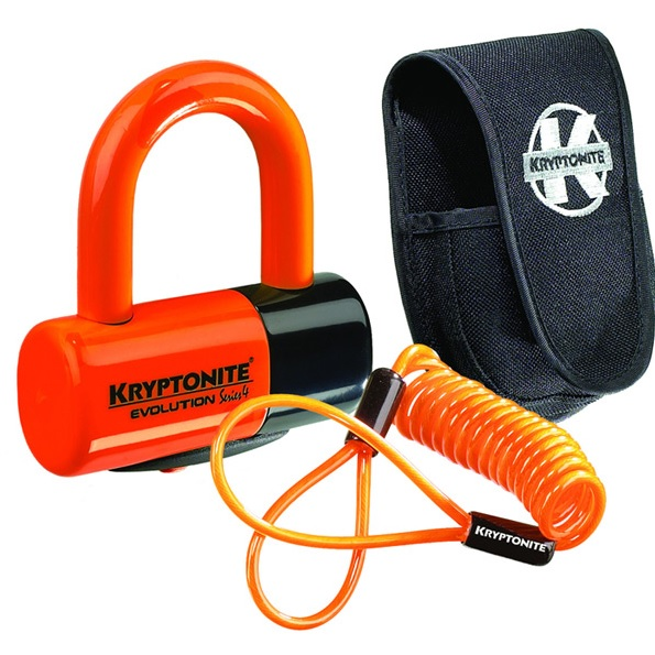 Evolution Disc Lock - Premium Pack - Orange With Pouch And reminder cable
