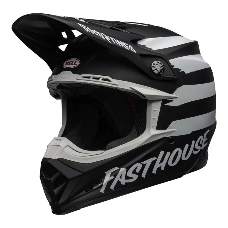 Bell MX 2020 Moto-9 Mips Adult Helmet (Fasthouse Signia Black/White)