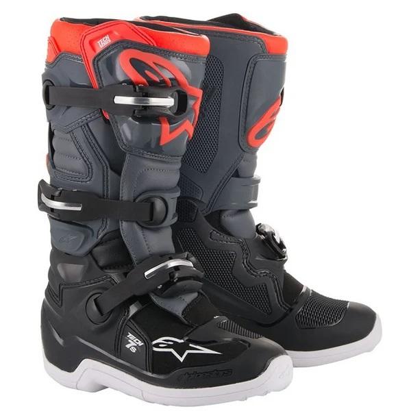 Alpinestars Kids Tech 7S Black Grey Red Fluo Boots