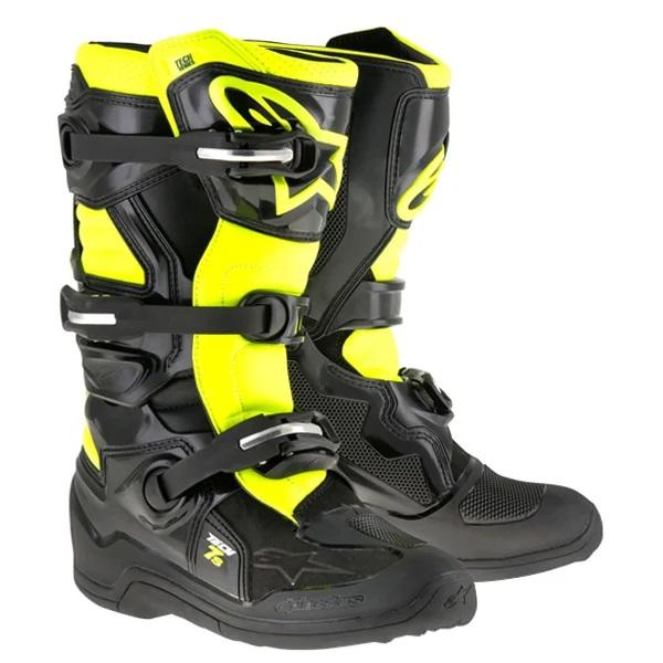 Alpinestars Kids Boots Tech 7S - Black Flo Yellow