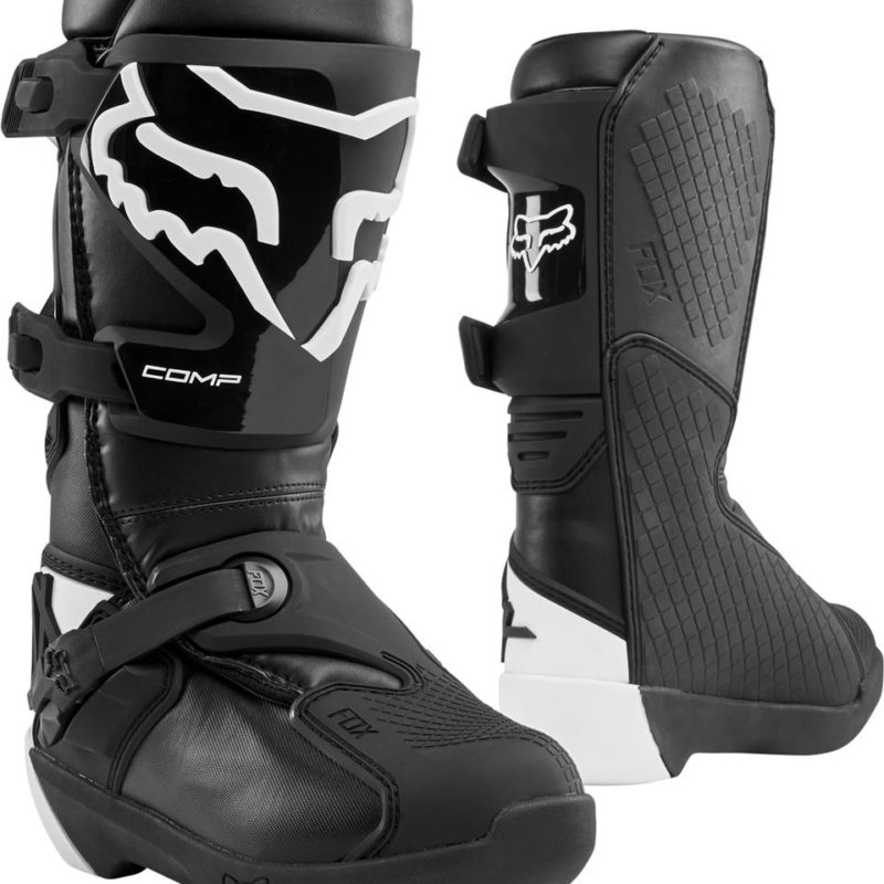 Fox Comp Youth Kids Motocross Boots Black