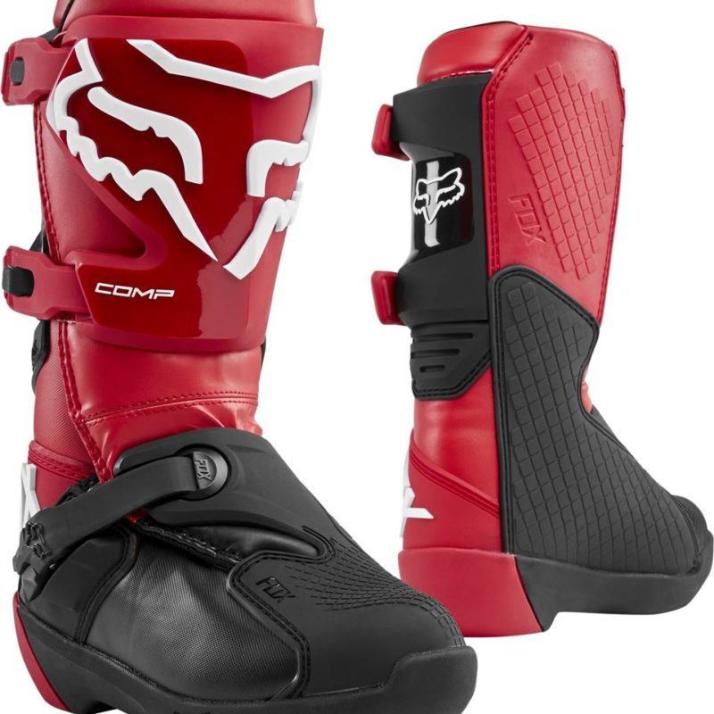 Fox Comp Youth Kids Motocross Boots Flame Red