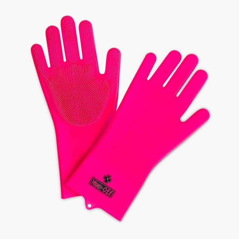 Muc off cleaning products scrubber gloves
