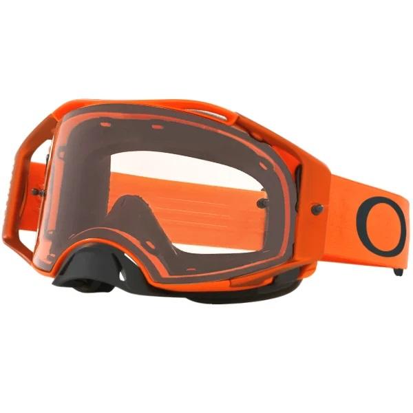 Orange Oakley airbrake goggles