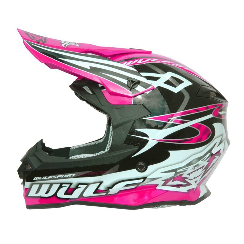 Kids pink Motocross Helmet