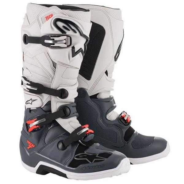 Alpinestars Tech 7 Dark Grey Light Grey Red Fluo Boots