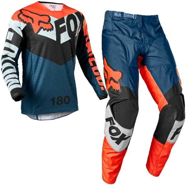 Fox Racing Kids 180 Trice Grey orange Kit Combo