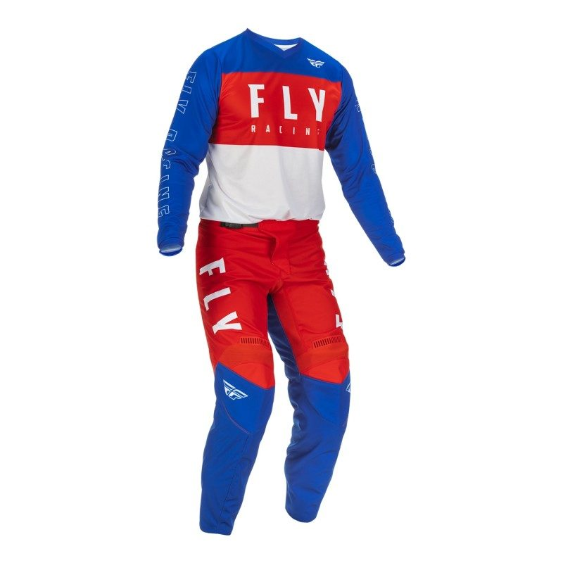 22 F16 Fly Racing Motocross Gear Red White Blue