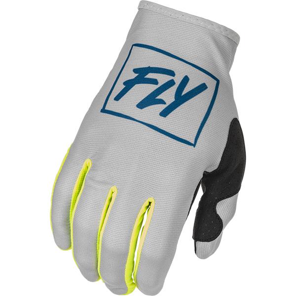 Fly Racing 2022 Lite Grey Teal Hi Vis Gloves